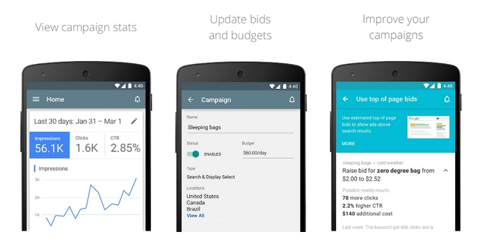 Приложение AdWords для Android