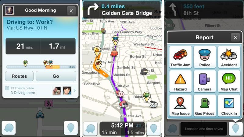 В основе социального приложения Waze - данные от самих пользователей