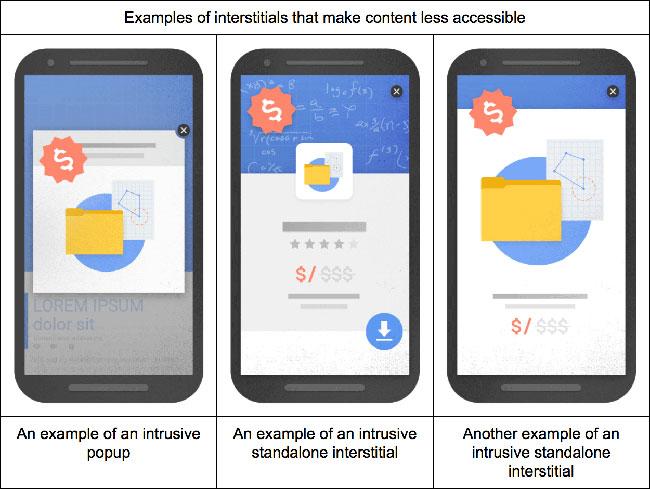 Пример от Google: за какую именно рекламу сайт может пострадать.