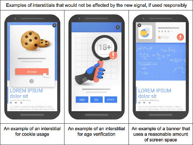 Пример от Google: за какую рекламу сайт никогда не пострадает.