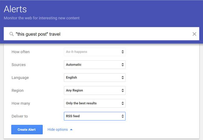 google alerts руководство